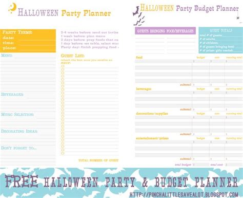 printable party budget planner 10 best images about holiday birthday event planner