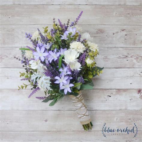 Artificial Lavender Flower Bouquet wildflower bouquet lavender bouquet purple bouquet