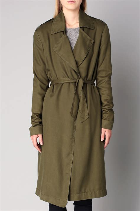 american vintage trench parka in green lyst