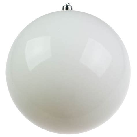 white baubles shiny shatterproof single 300mm baubletimeuk