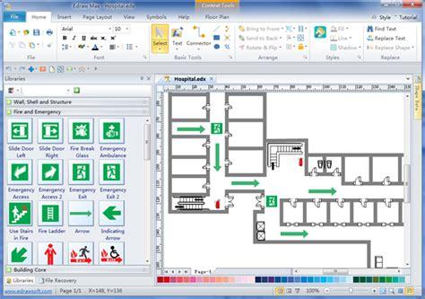 Excel Room Layout Template emergency evacuation diagrams free download emergency