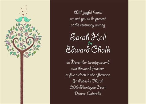 wedding reception invitations templates invitation wording reception after ceremony