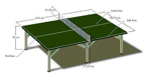 ukuran lapangan tenis meja standar multi info