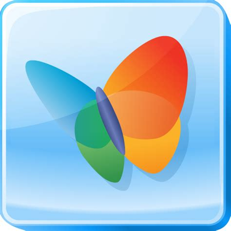 Msn Finder Butterfly Hotmail Live Logo Microsoft Msn Square Icon Icon Search Engine