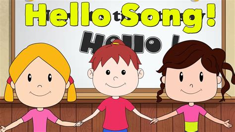 greeting song hello song for kindergarten and preschool song