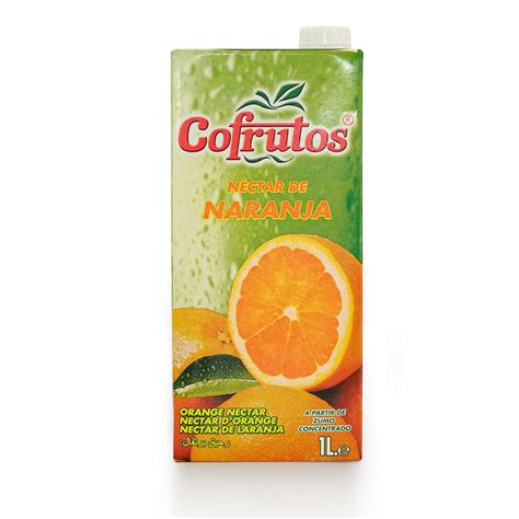 fruit nectar orange nectar with sugar 1l brik cofrutos