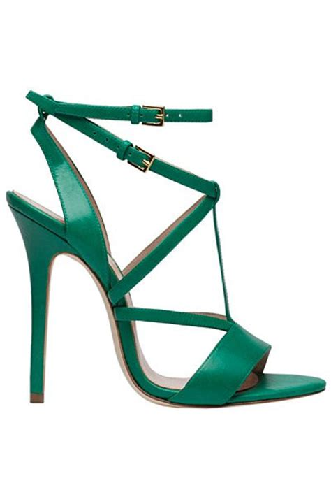 green high heel sandals elie saab green high heel sandal summer 2014 shoes