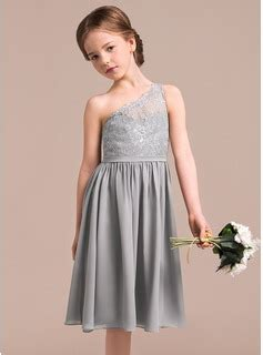 Sandal Wedges Wanita Silver Js 335 a line princess one shoulder knee length chiffon lace