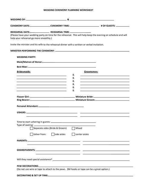 wedding planner printable sheets free free printable wedding planning worksheets quelles astuces