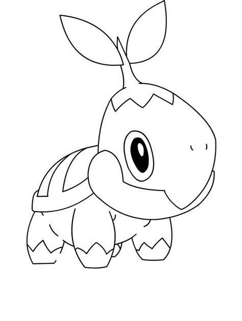 pokemon turtwig coloring pages drawing coloring