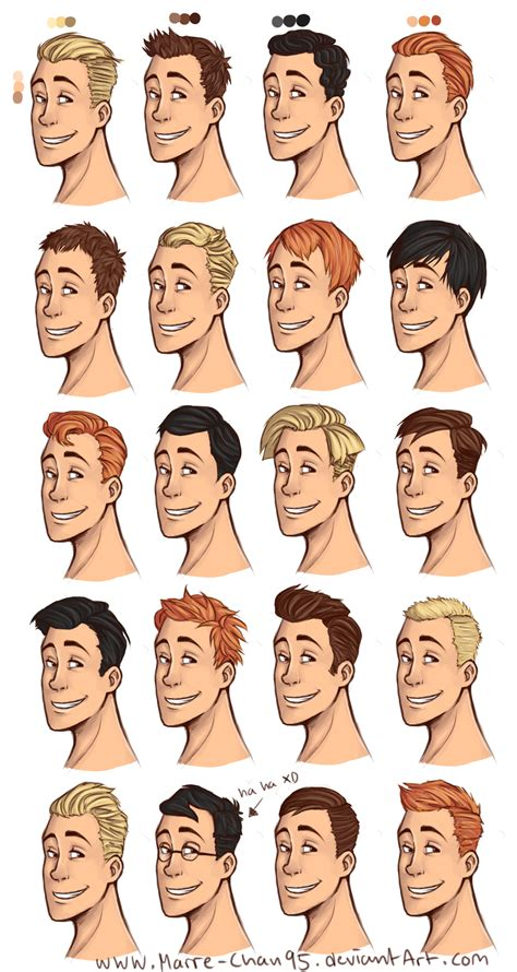 book character hairstyles 20 diffrent haircuts by marre chan95 on deviantart