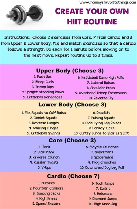 create your own blueprint create your own hiit routine fitness routine workout and exercises