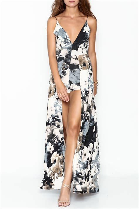 Maxi Lovly lovely day floral maxi romper from manhattan by dor l dor