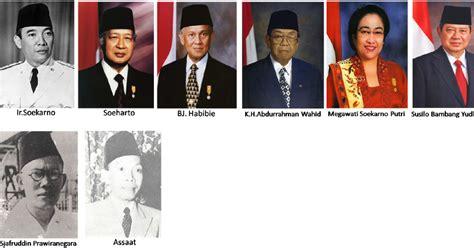 daftar nama presiden indonesia    sampai