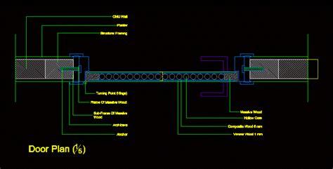 door plan details dwg plan  autocad designs cad