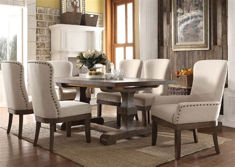 rustic dining sets 9 acme landon rustic dining set