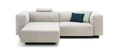 modular lounge with chaise vitra soft modular sofa two seater chaise longue