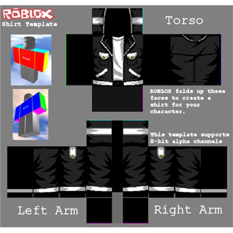 kool black and white jacket roblox
