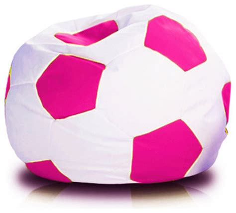soccer ball couch soccer ball xxxl style bean bag sofa white and pink