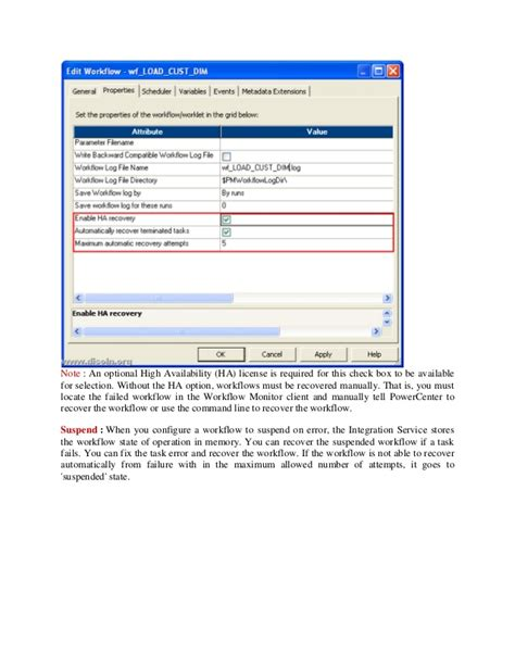 workflow recovery in informatica informatica failure recovery strategy