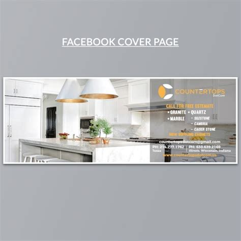 facebook page design   counter top business
