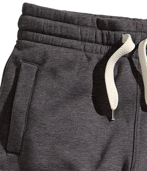 h m sweatpants in gray for lyst