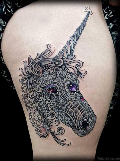 unicorn tattoos 50 great unicorn tattoos on thigh
