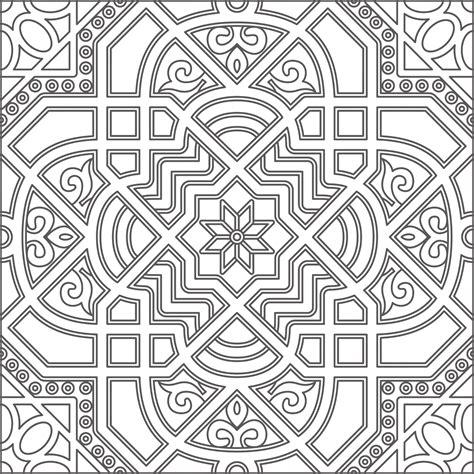 geometric pattern arabic art clipart black and white geometric line art