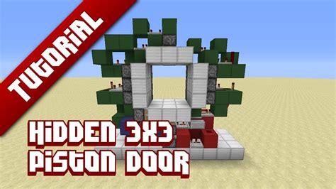 How To Make A 3x3 Piston Door by Minecraft Tutorial 3x3 Piston Door