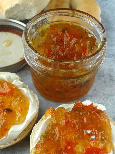 sweet and spicy pepper jam recipe le veon