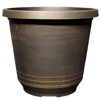 12 in plastic torino black bronze planter tp333h bb