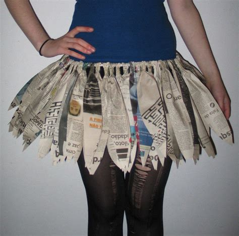 newspaper tutu  tutu papercraft  dressmaking