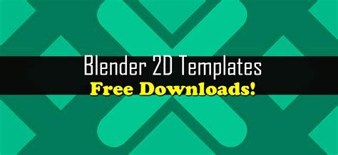 Blender 2d Intro Templates Free Downloads Blendernation 2d Intro Template Blender