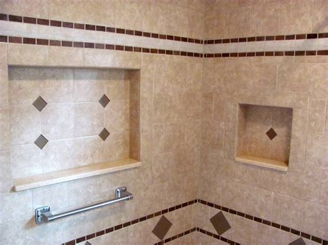 bathroom tile shelves walk in tile showers and surrounds from bathroom remodels