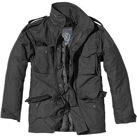 Jaket Outware Navy Original brandit mens m65 classic security field jacket coat parka black ebay