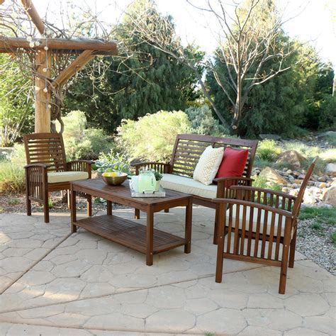 Acacia Wood Outdoor Furniture by We Furniture Solid Acacia Wood Patio