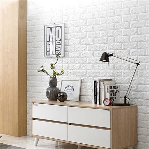 peel and stick wall peel stick 3d wall panels white 3d brick wallpaper 2 6