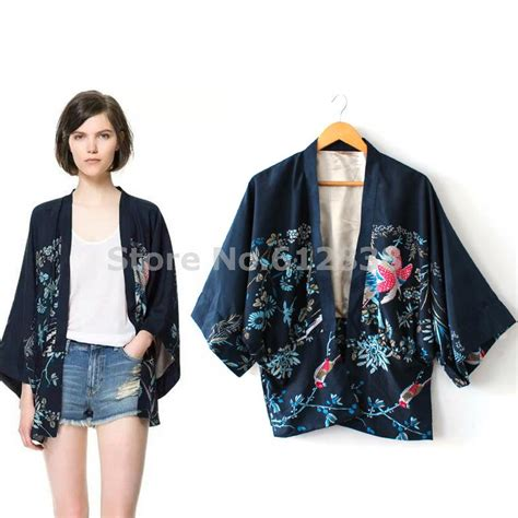 Kimono Blouse Hoodie Salem kimono fashion cardigan 2015 blouse shirt embroidery printing cardigan
