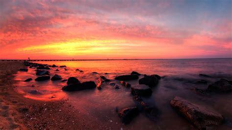 Landscape Sunset Landscape Sunset Wallpaper