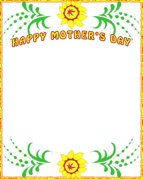 mothers day mother s day borders free mothers day border clip art