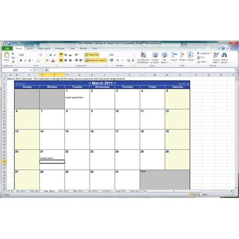 insert monthly calendar in excel 2010 find and use a free microsoft excel 2010 yearly calendar