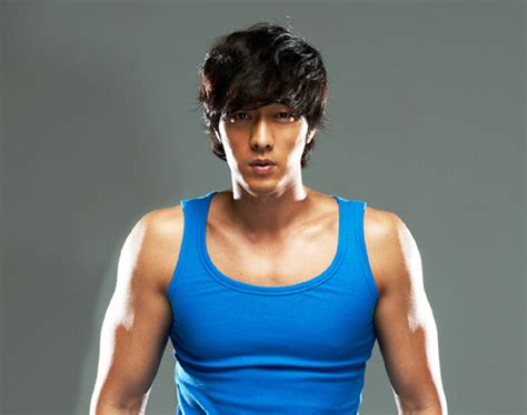 so ji sub new drama so ji sub looking good in blue sleeveless hancinema