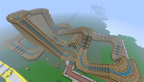 theme park minecraft huge wooden rollarcoaster the legacy 1rst in my theme