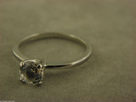 avon sterling silver 925 cubic zirconia 1 6 ct engagement