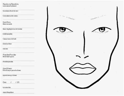 makeup template tabiči chart