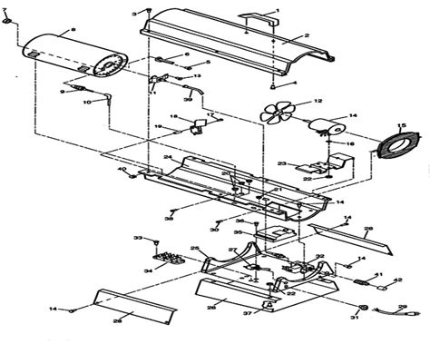 reddy heater parts diagram rlp45 reddy heater parts for lp propane forced air heaters