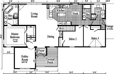sle house floor plan drawings the hobby home ii modular home pennflex series standard