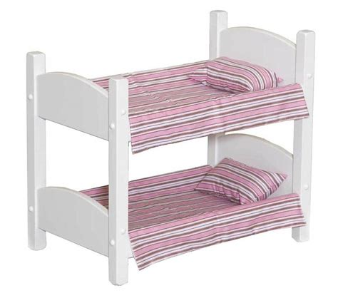 Baby Doll Bunk Bed Doll Bunk Bed Heirloom Baby Beds Amish Handmade 18 Quot Dolls In White Finish Ebay