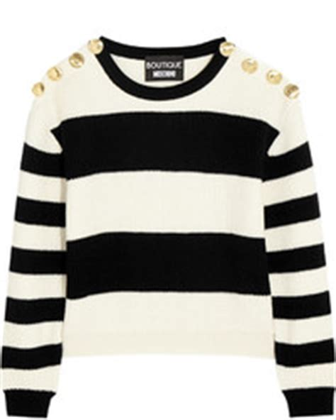 Moschino White Crop Sweater banana republic striped crew cropped pullover where to