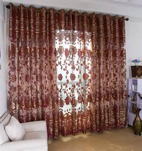 Burgundy And Gold Valances Shop Popular Burgundy Gold Curtains From China Aliexpress